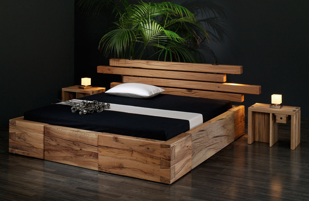 bett brunhilde sumpf eiche massiv von sprenger m bel. Black Bedroom Furniture Sets. Home Design Ideas