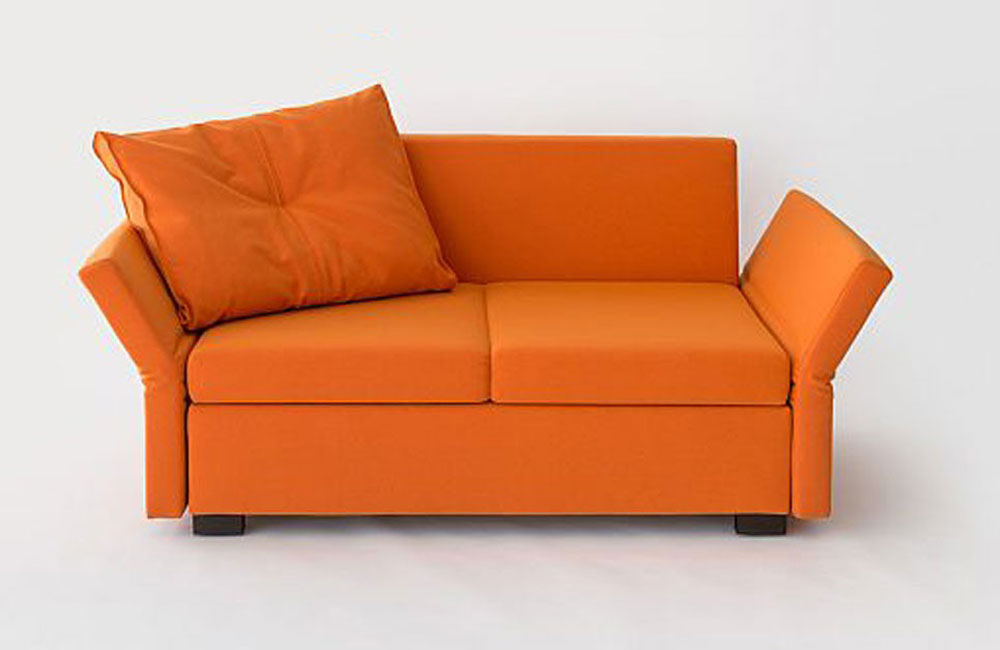 schlafsofa lavin in mona orange ausstellungsst ck. Black Bedroom Furniture Sets. Home Design Ideas