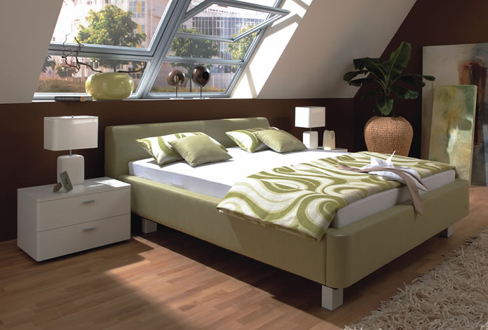 ruf bett best ruf bett inkl matratzen in kunstleder beige. Black Bedroom Furniture Sets. Home Design Ideas