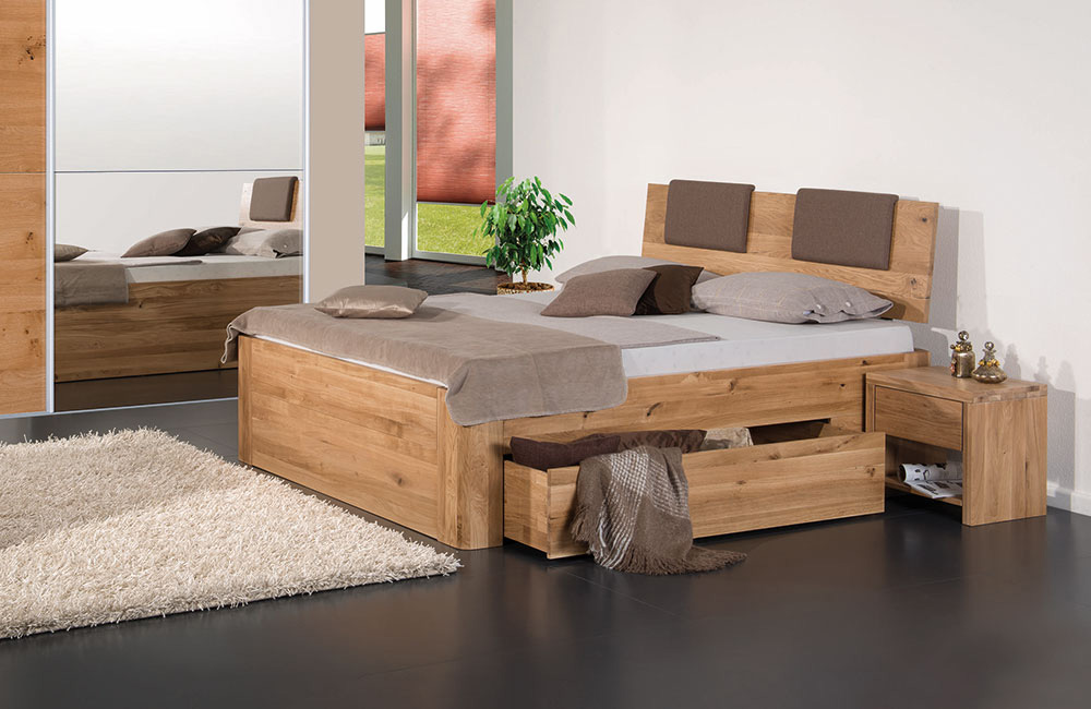 betten von modular massivholzbett mit bettkasten asti. Black Bedroom Furniture Sets. Home Design Ideas