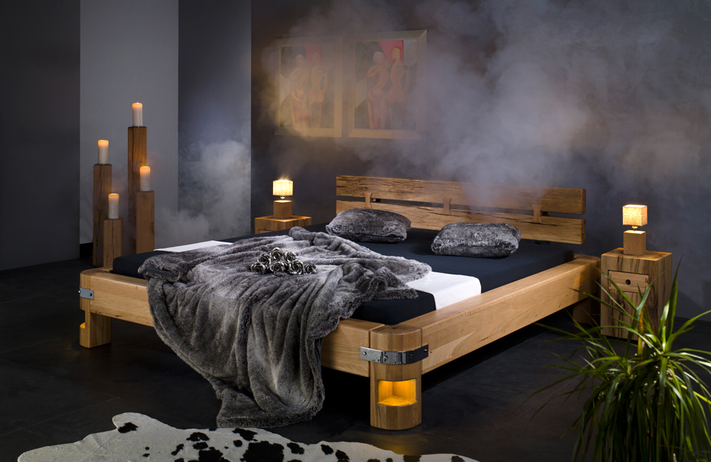 bett dino in sumpfeiche massiv von sprenger m bel. Black Bedroom Furniture Sets. Home Design Ideas